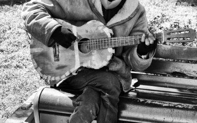 Carlos musicista di strada
