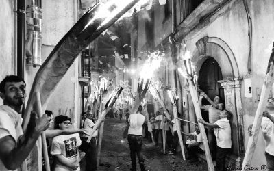 I zigni di Verbicaro. La processione con la fiaccolata dei tronchi di pino alla festa patronale della Madonna delle Grazie .
